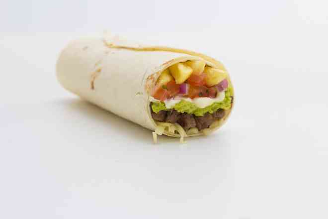 Burrito Califórnia (carne, frango ou soja)