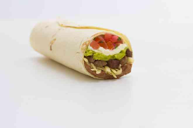 Burrito Chimichanga (carne, frango ou soja)