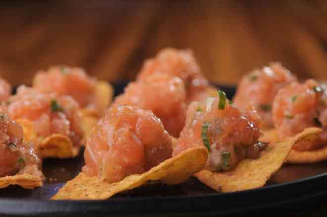 Nachos de Salmon