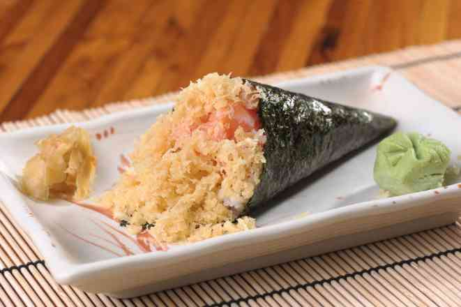 Temaki Salmon Crispy - Normal